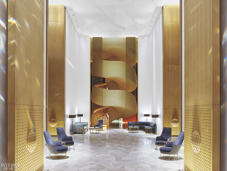 Four Seasons Hotel Kuwait At Burj Alshaya By Yabu Pushelberg 2018 Best Of Year Winner For Chain Hotel Hotel Interior Design Interior Design News Interior Design Magazine