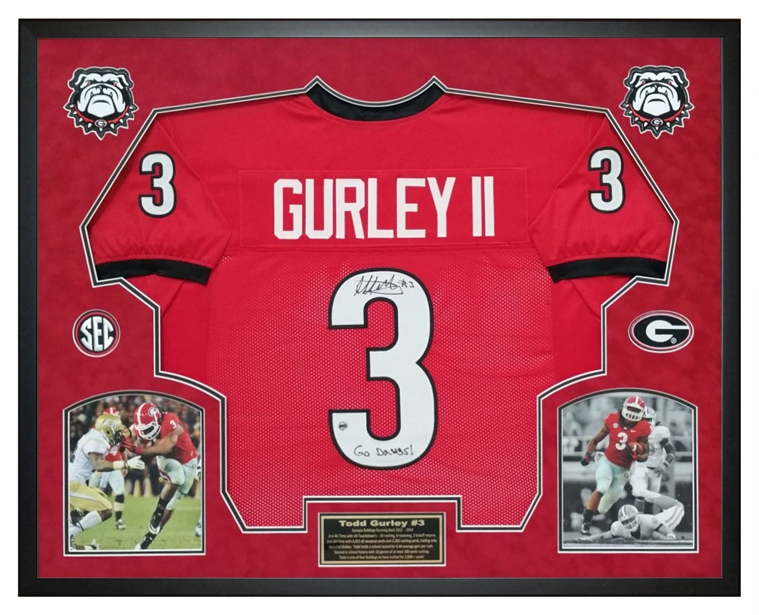 best website c9b9b 87bdf Todd Gurley autographed Georgia Bulldogs Custom Jersey that ...