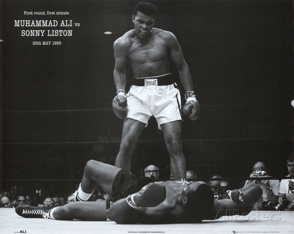 Print Art POSTER CANVAS Laila Ali Standing in the Ring