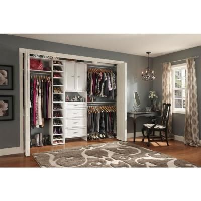 Closetmaid selectives 25 in white custom closet organizer 7029 at white custom closet organizer 7029 at the home depot solutioingenieria Gallery