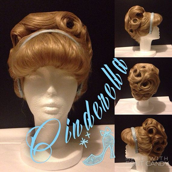 Classic style Cinderella wig by C80sThingamabobs on Etsy