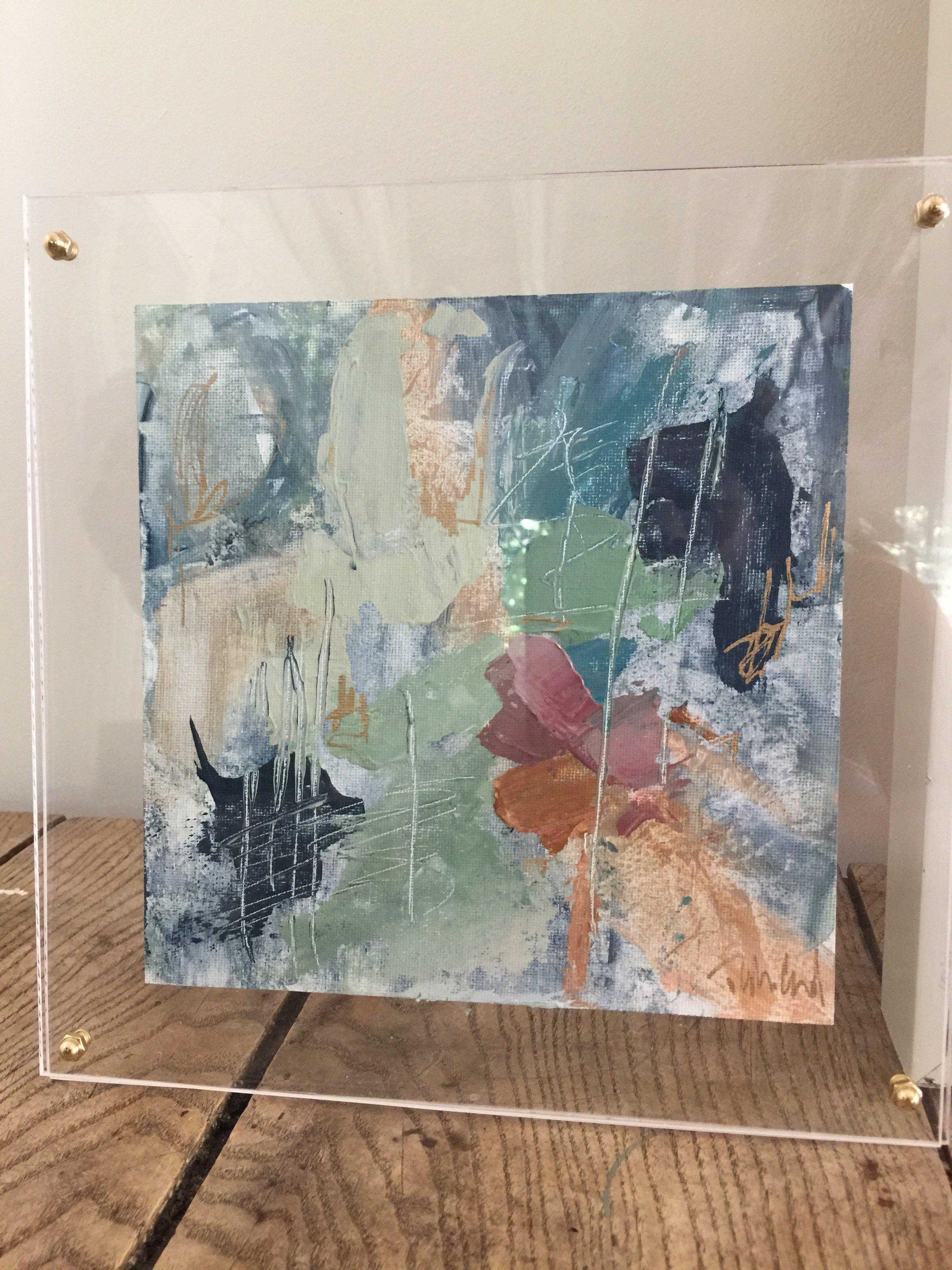 Vibe - Tyler Colgan. 10.5 x 10.5 inches. Acrylic and mixed media on ...