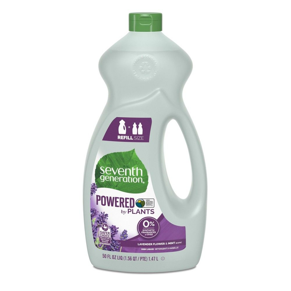 Seventh Generation Lavender Floral Mint Liquid Dish Soap 50oz
