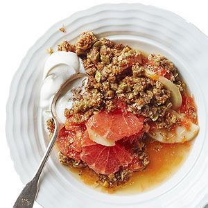 Grapefruit and Pear Crumble