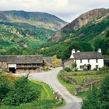 Yew Tree Farm in Coniston, Cumbria, England. Built in 1693 and once home to Beatrix Potter.