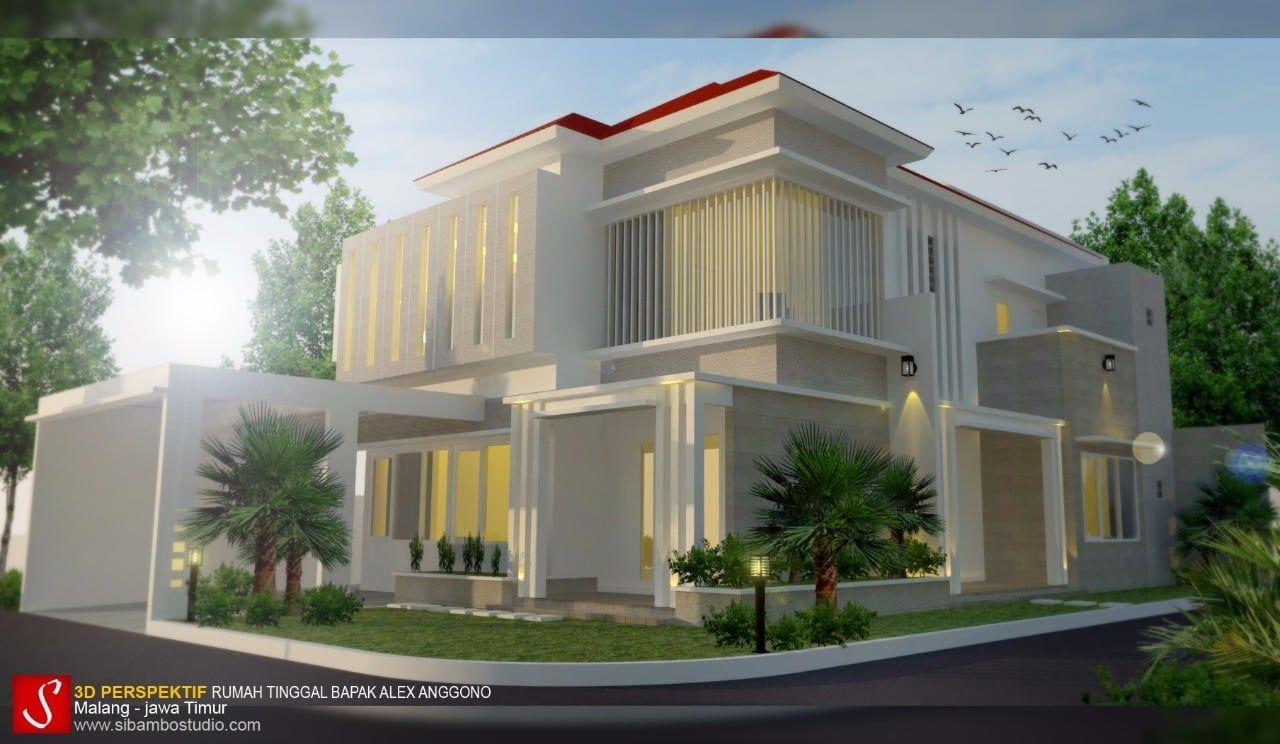 Desain Rumah Mewah Modern 2 Lantai Di Hook Cek Bahan Bangunan