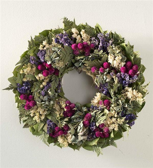 Main Image For Natural Violet Larkspur Indoor Wreath 22 26quot Dia Indoor Wreath Natural Wreath Wreaths