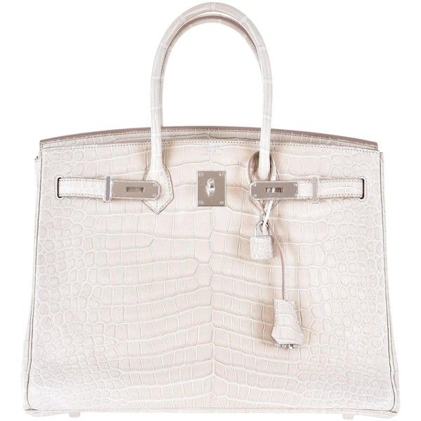41bf8a9d47c0 ... spain hermes 35cm birkin bag matte croc beton porosus crocodile  janefinds 92865 liked on polyvore featuring