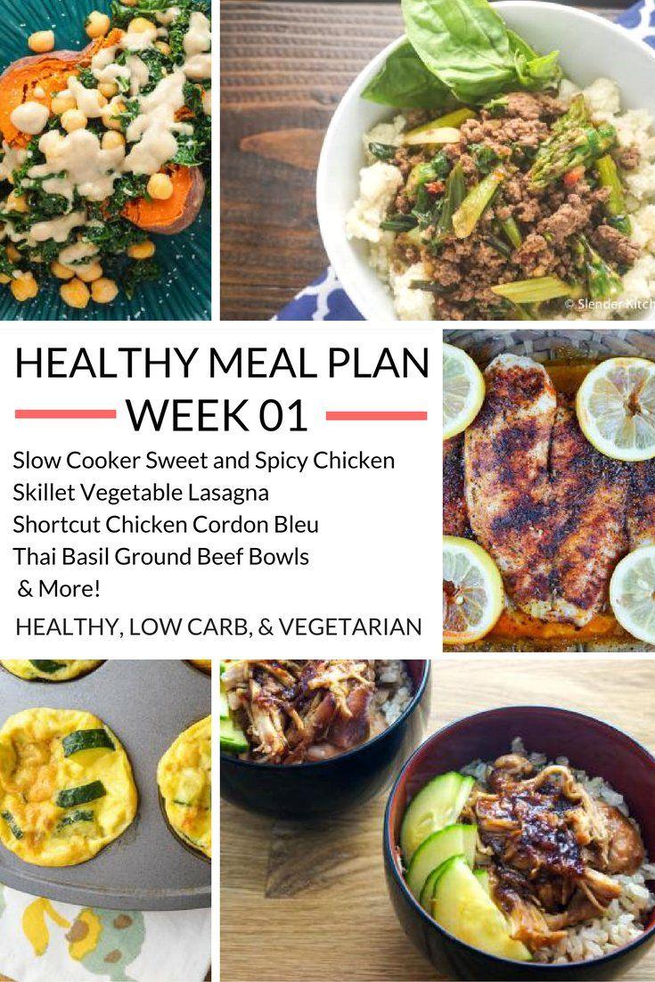 Healthy Meal Plans Week 1   Slender kitchen