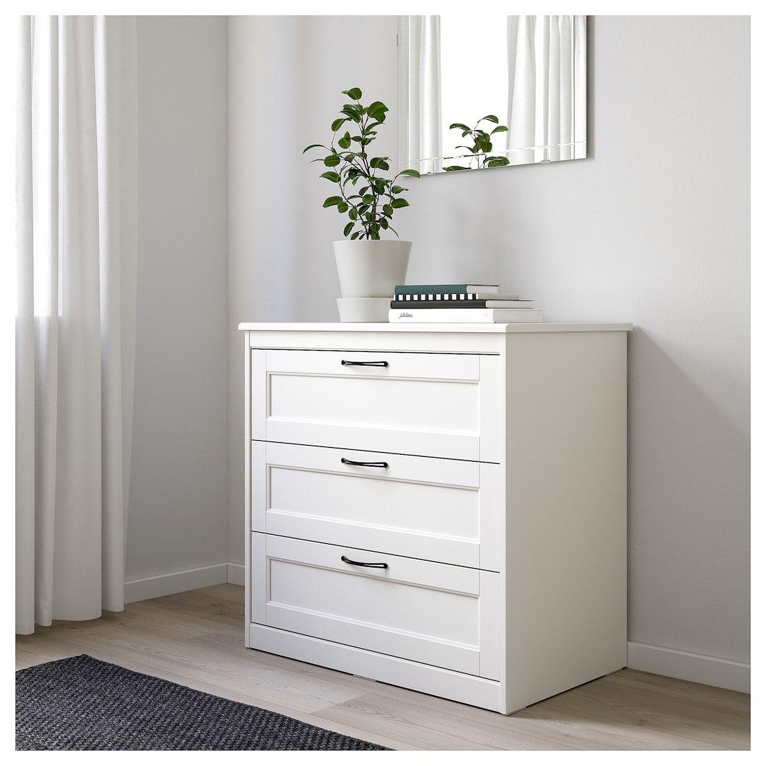 """SONGESAND 3drawer chest, white, 32 1/4x31 7/8"""" IKEA"""