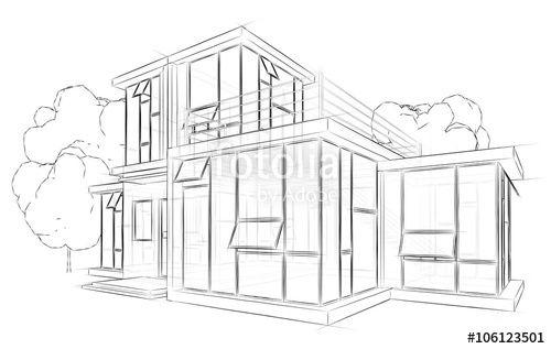 """Laden Sie das lizenzfreie Foto """"Architektur Skizze"""