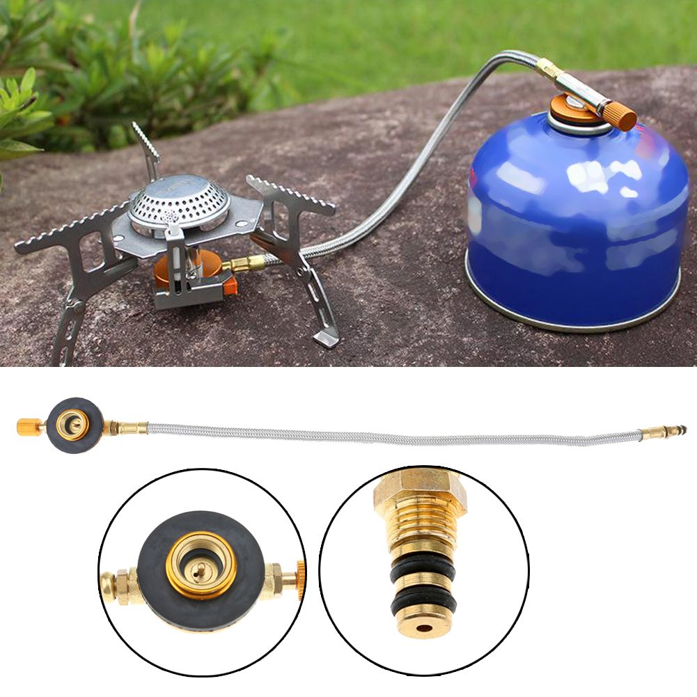 Single Burner Propane Stove Pockets Mini Picnic BBQ Screw Flat Tank Stove Silver