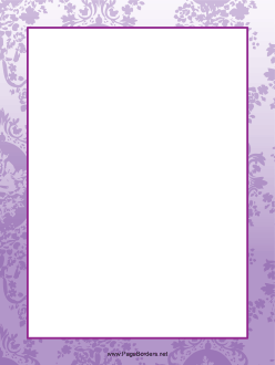 tiny grape leaf designs decorate this abstract purple page border