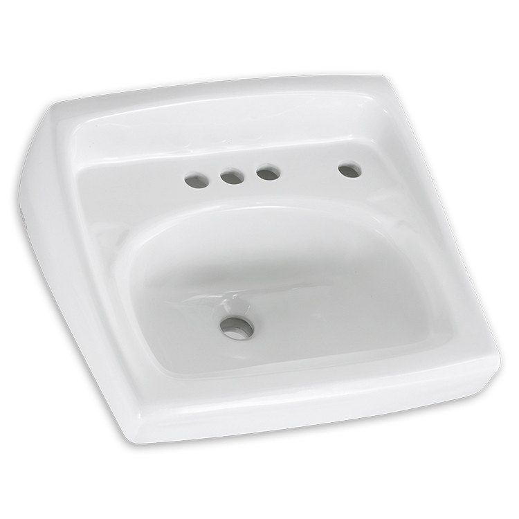 Lucerne 20 1 2 W Wall Mount Bathroom Sink For 4 Centerset Faucet Right Side Dispenser Wall Mounted Bathroom Sinks Wall Mounted Sink American Standard