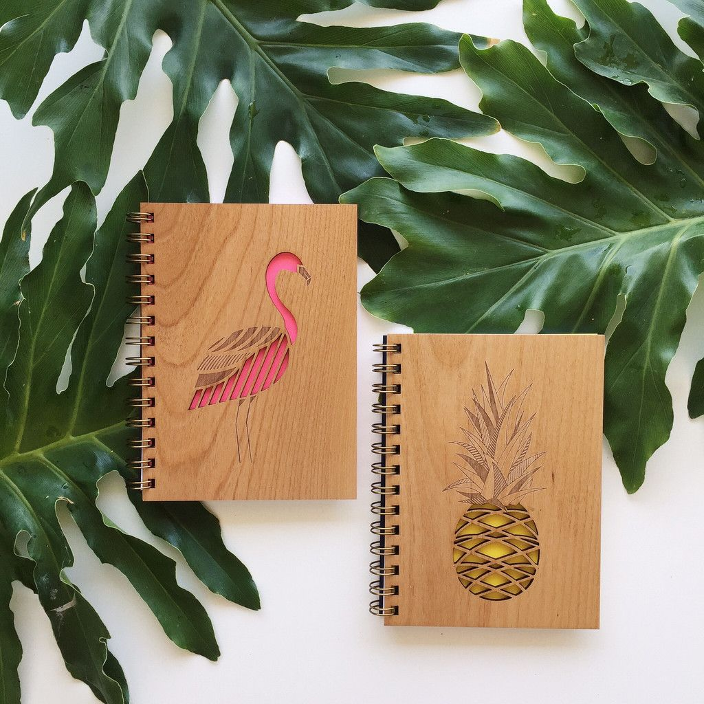 Pineapple Journal Handmade journal, Wood journal, Wood