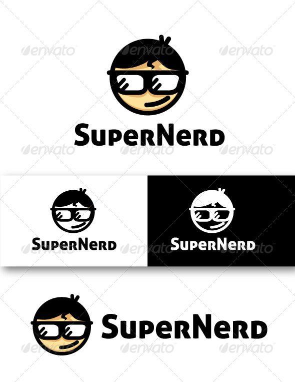 Super Nerd Logo   Logos, Ai illustrator and Logo design template