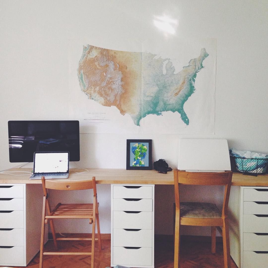 Crafting Connections On Instagram Sometimes You Have To Embrace Who You Are How You Live And Make Your Livin Butcher Block Desk Ikea Diy Home Office Design