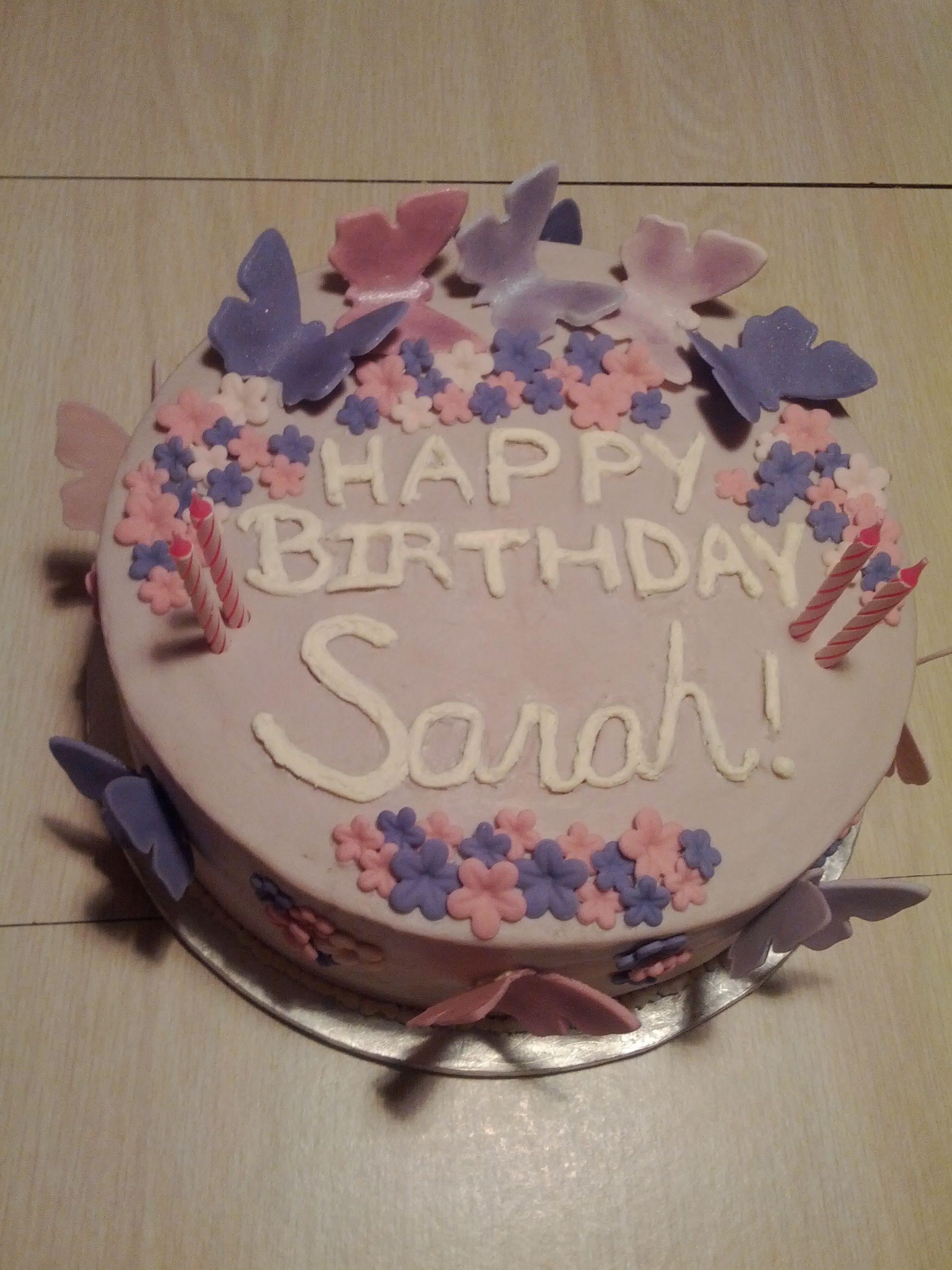 Sarahs 22nd Birthday Cake Sarahs Birthday Pinterest Cake