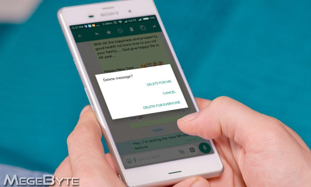 How to delete wrongly sent whatsapp message on android and