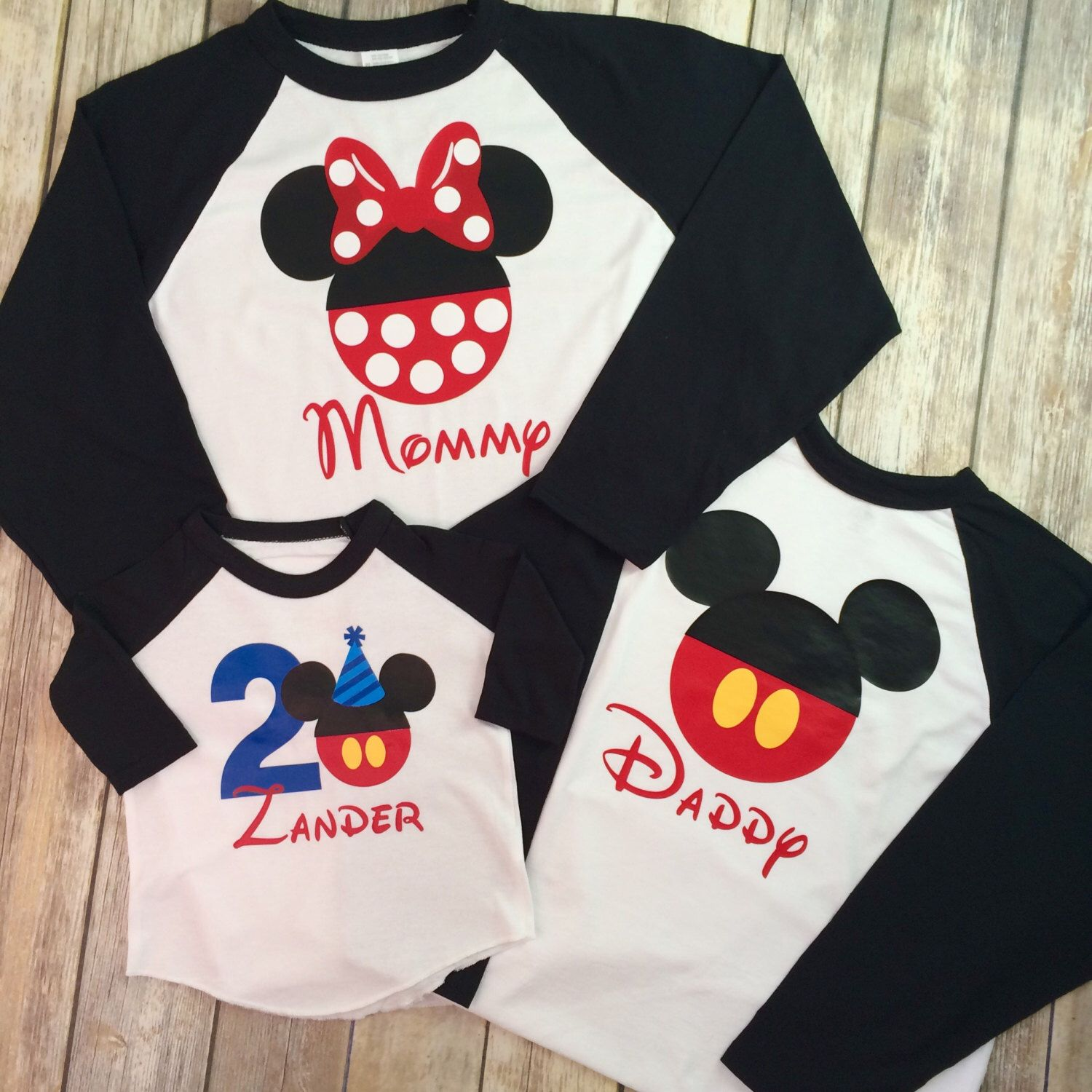 Any Age Disney Family Birthday Shirts Mickey Minnie Mouse T Baseball
