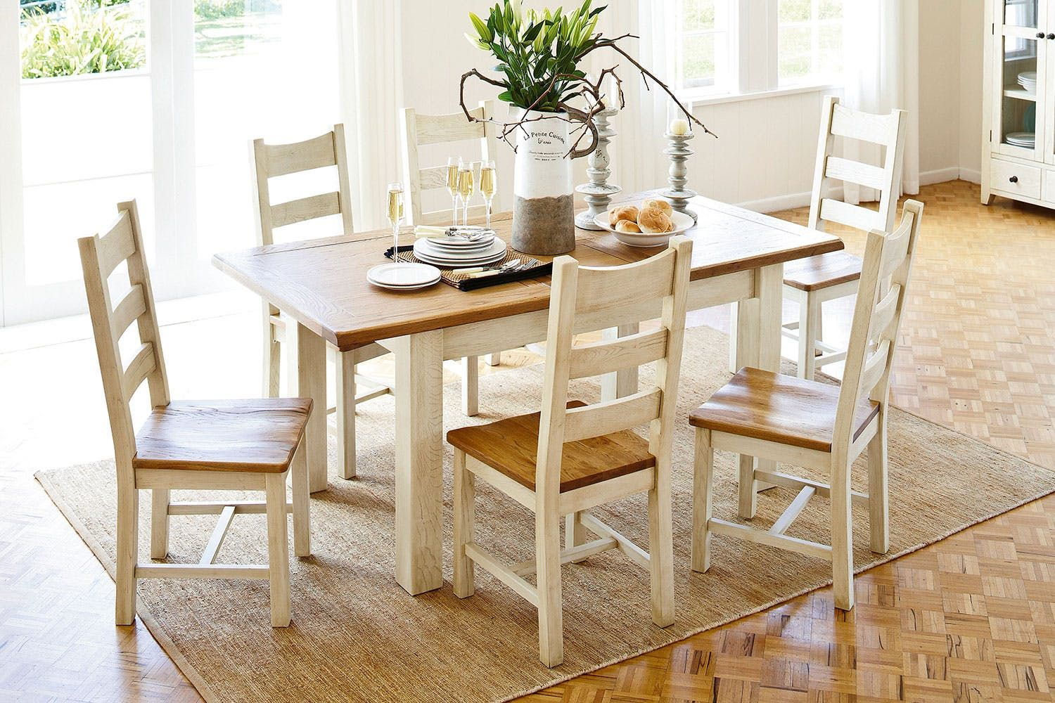Mansfield 7 Piece Extension Dining Suite By Debonaire Furniture