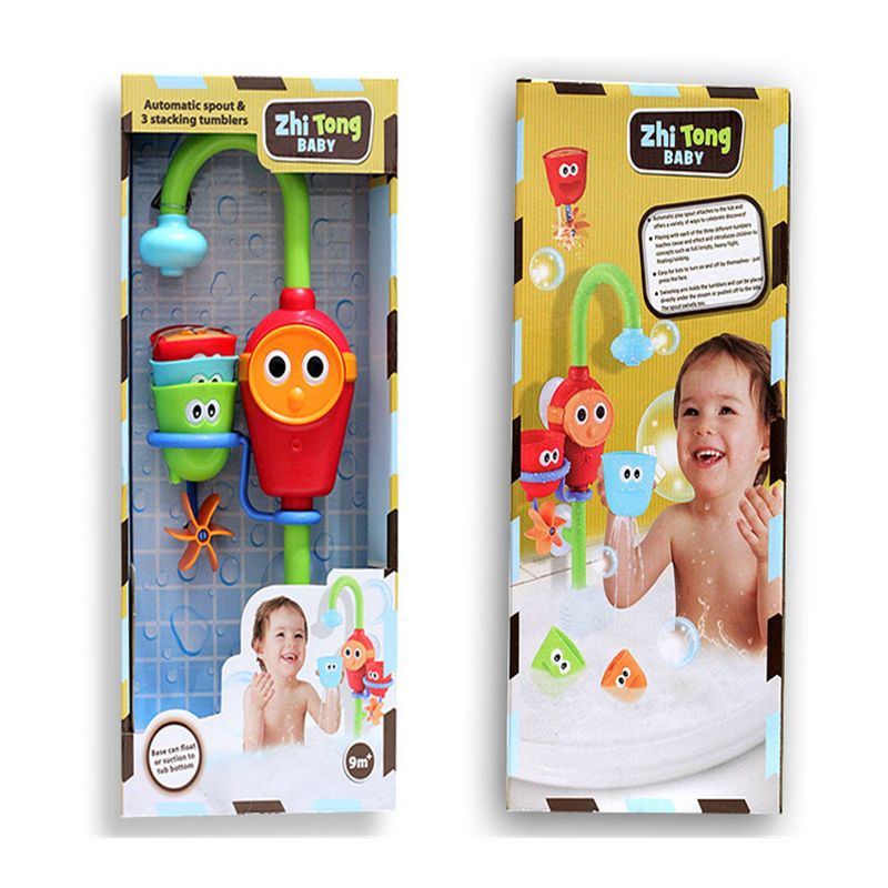 One Piece Electronic Bath Toys Play Taps Toy Stacker Baby Faucet ...