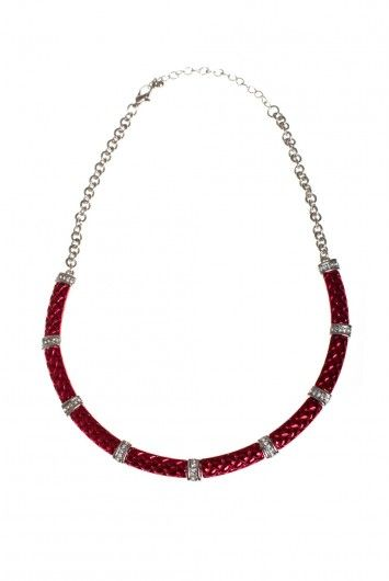 TYPE 4 Red Royal Necklace: this red necklace features bars of color accented with rhinestone fixtures and has matching earrings and bracelet to complete your look.      17-20 inches, adjustable     Trigger Clasp #type4 #dressingyourtruth #beautyprofiling