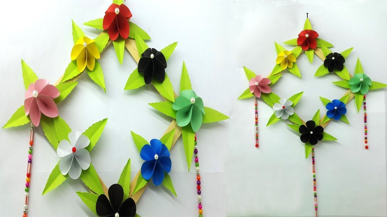 How To Make Easy Paper Flower Diy Flower Wall Hanging