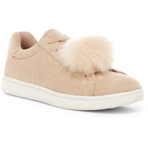 Madden Girl Baabee Faux Fur Pompom Sneaker FlMtUAHw