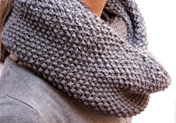 Chunky Seed Stitch Cowl. No-Pattern Pattern. (With images ...