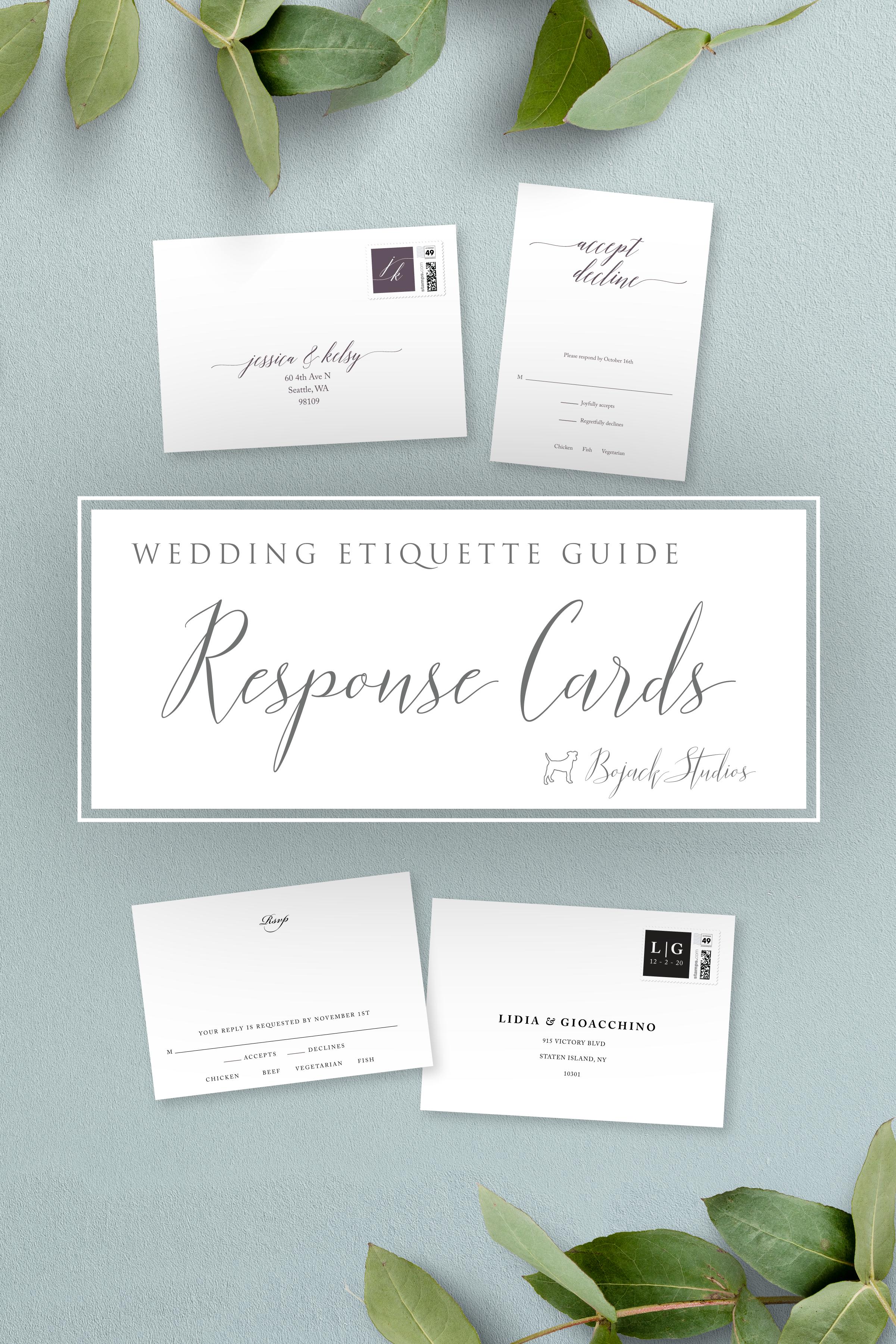 Wedding Rsvp Card Etiquette Bojack Studios Wedding Etiquette Guide Rsvp Wedding Cards Wedding Rsvp Wedding Etiquette