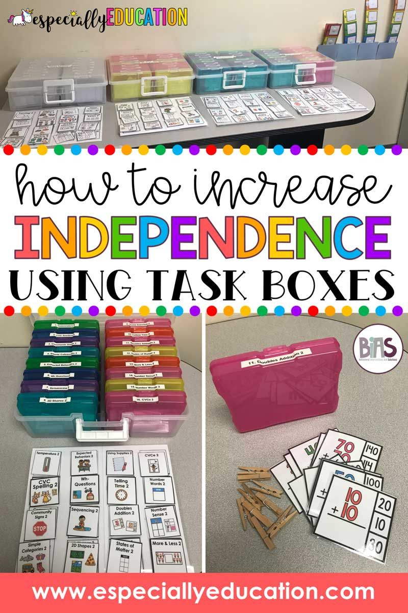 How to Increase Independence Using Task Boxes in the