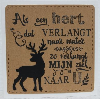 Gemaakt door Joke # tekst gestempeld met de Eline's handlettering stamps # Als een hert dat verlangt naar water