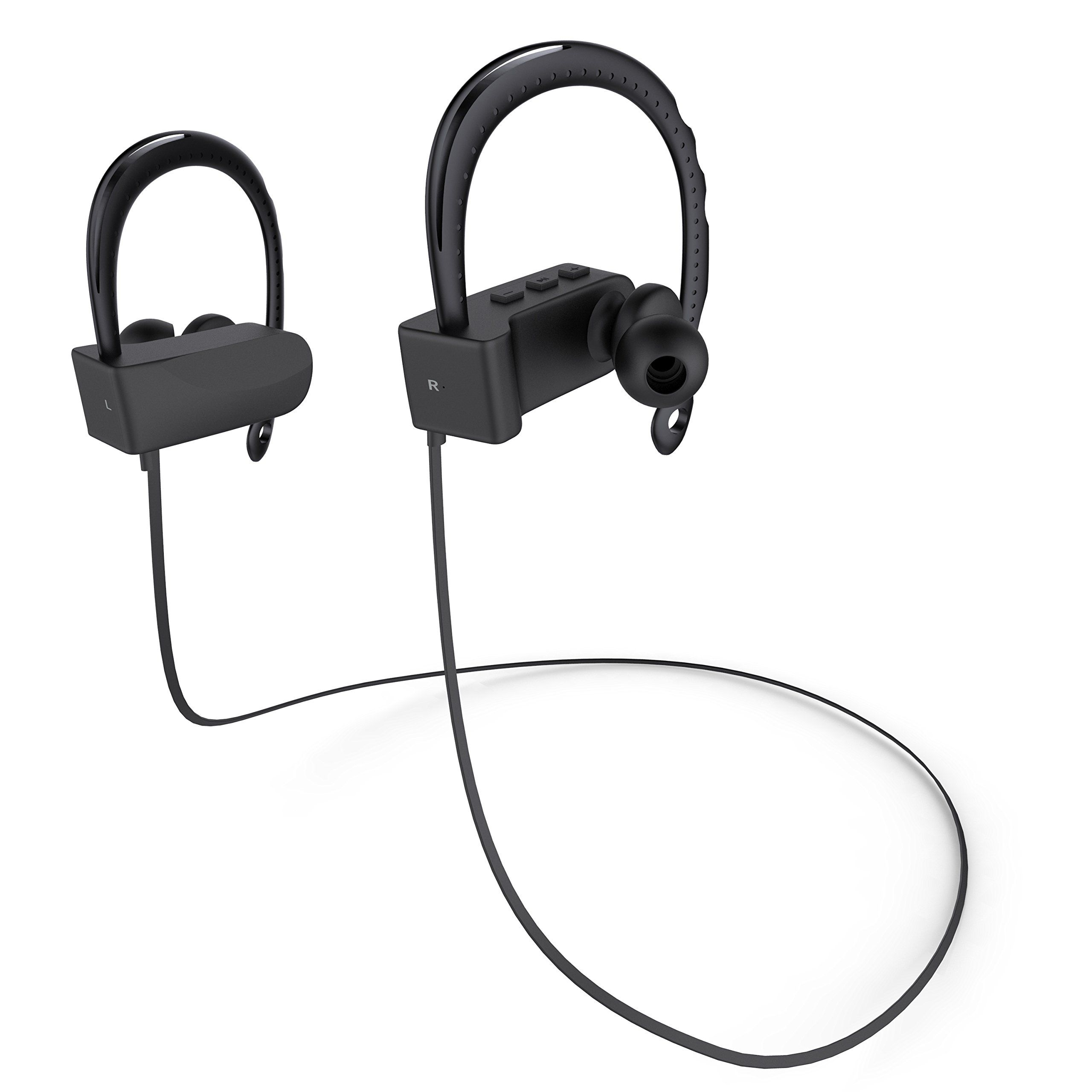 liger black earbuds mic noise comforter bluetooth comfortable sweatproof with pin cancelling headphones blaze