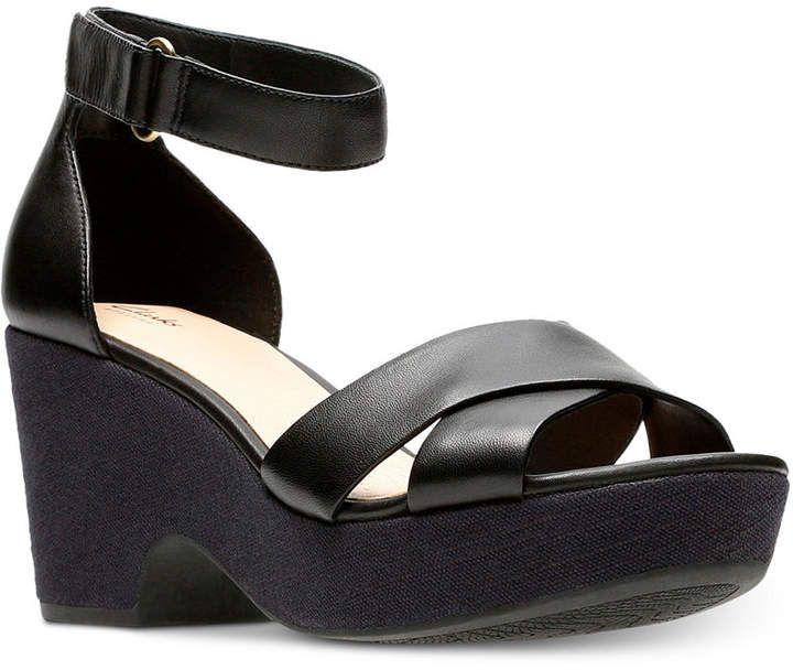 Clarks Women's Maritsa Ruth Wedge Sandals & Reviews