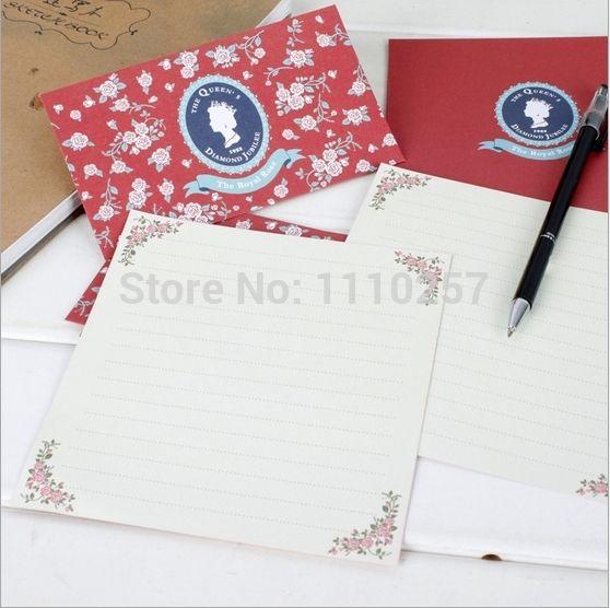 Find More Paper Envelopes Information About Uk Envelope Vintage Letter Writing Set Queen Solider Crown Retro Env Letter Paper Vintage Lettering Cheap Envelopes