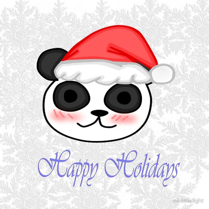 Kawaii Christmas Panda | redbubble | Pinterest | Panda and Kawaii