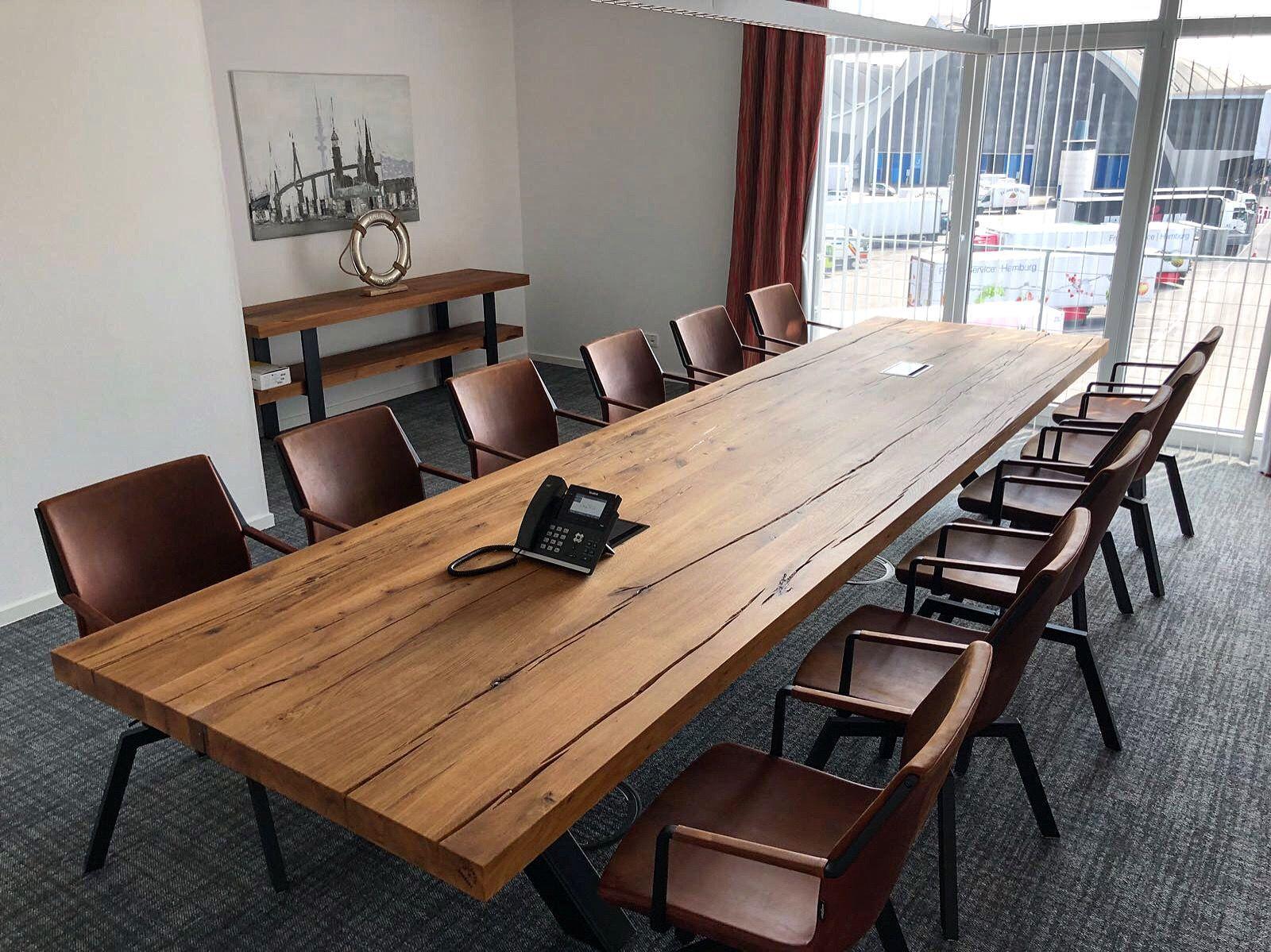 Konferenztisch Massiv Holz Massivholztisch Konferenztisch Esstisch Design