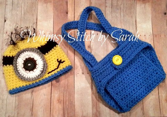Minion Outfit Photo Prop Set Hat Diaper by ...