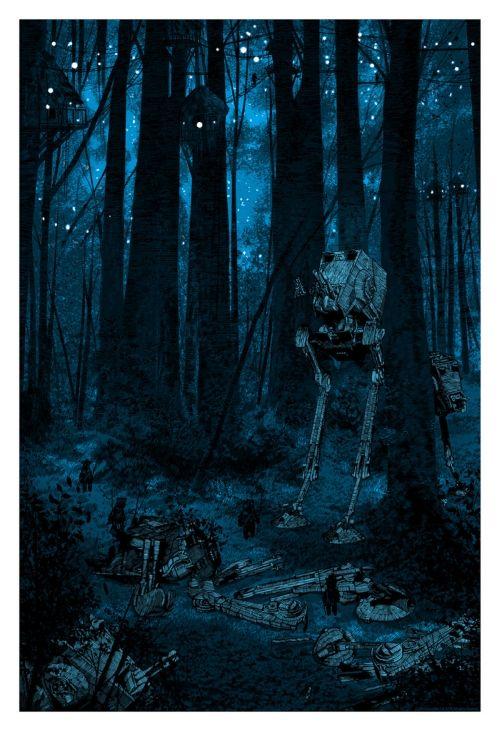 'Sanctuary Moon' Artist Proof - Official Star Wars print by Daniel Danger