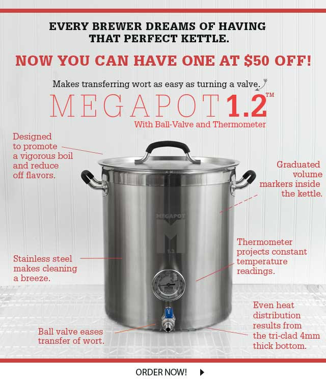 Northern Brewer Megapot Stainless Steel Homebrew Kettles With Images Brewer Kettle Home Brewing