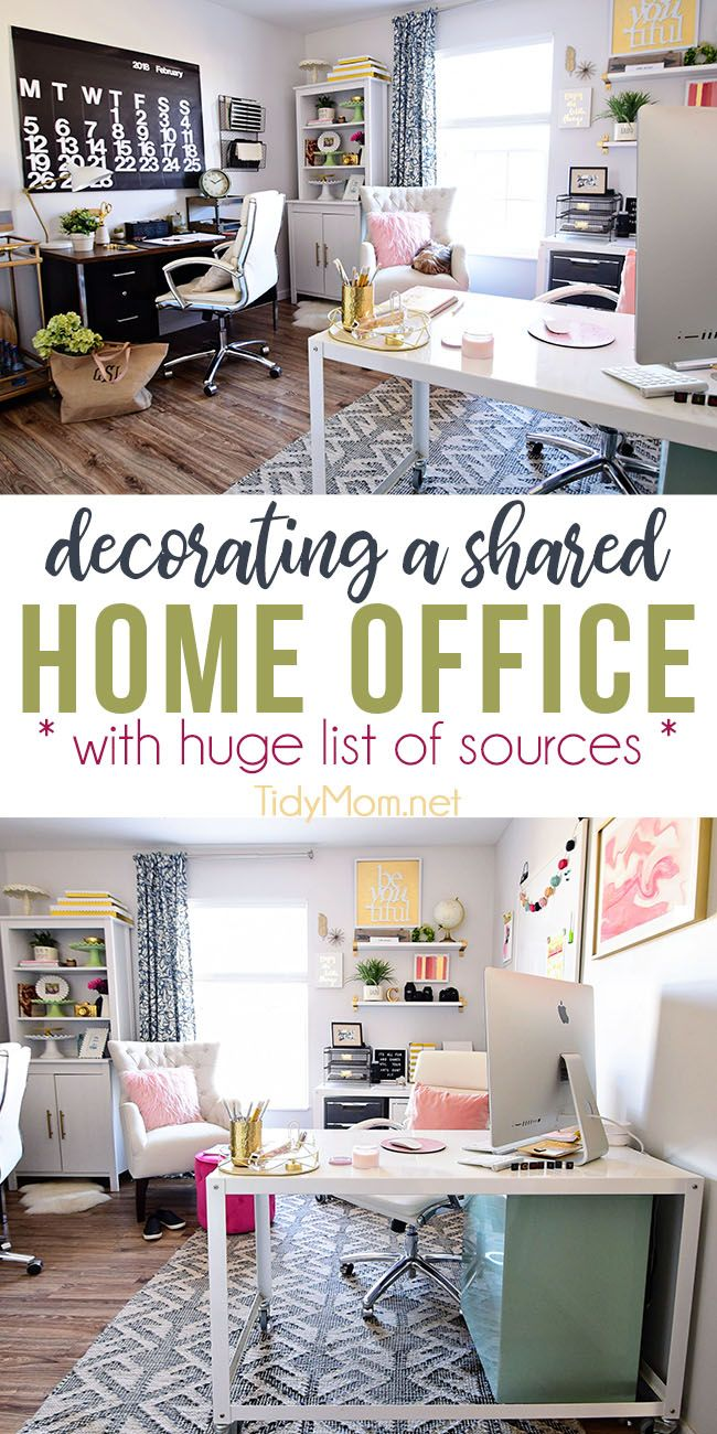 Decorating a Shared Home Office | Industrial style, Industrial and ...