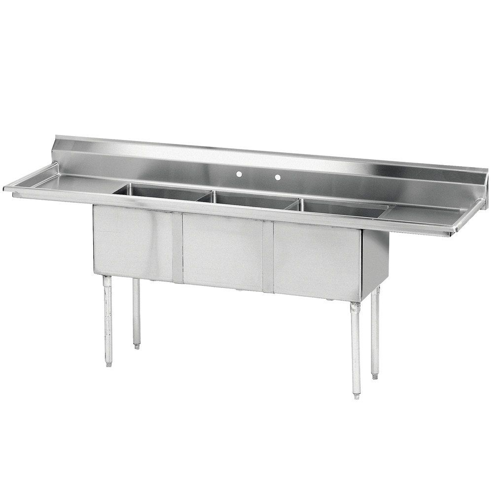 Advance Tabco Fe 3 1014 15rl Three Compartment Commercial Sink Restaurant Sink Sink