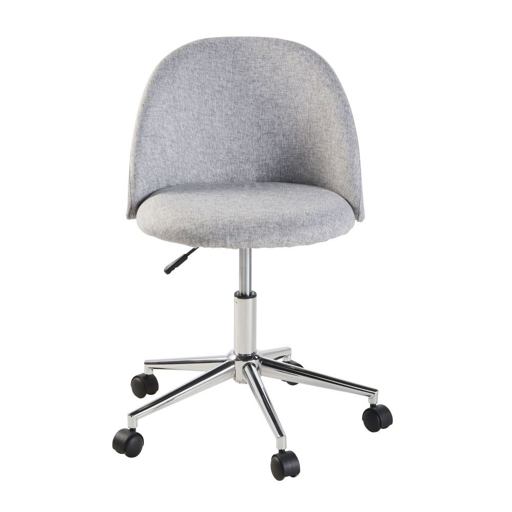 Chaise de bureau vintage à roulettes grise Chaise de
