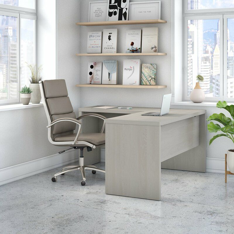 Kathy Ireland Office By Bush Echo L Shaped Desk Shell Reviews
