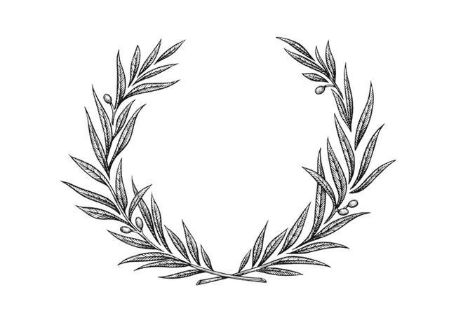 couronne laurier   laurier   pinterest   tatouage, tatouage floral