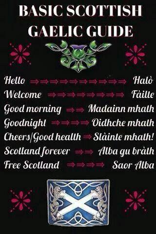 Scottish Gaelic Mini Dictionary Via My Heart Will Always Be In