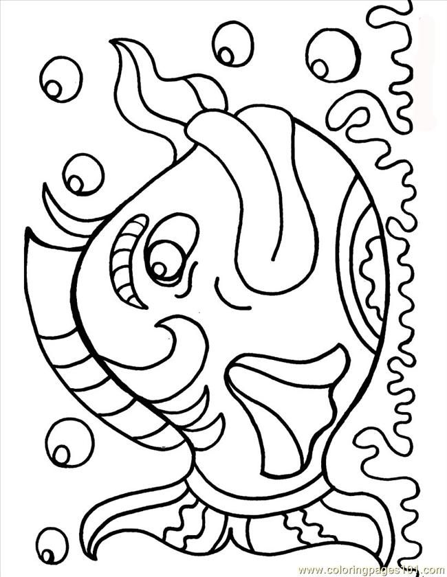 Coloring Pages Of Aquatic Animals : Free printable coloring image fish picture source s41 animais