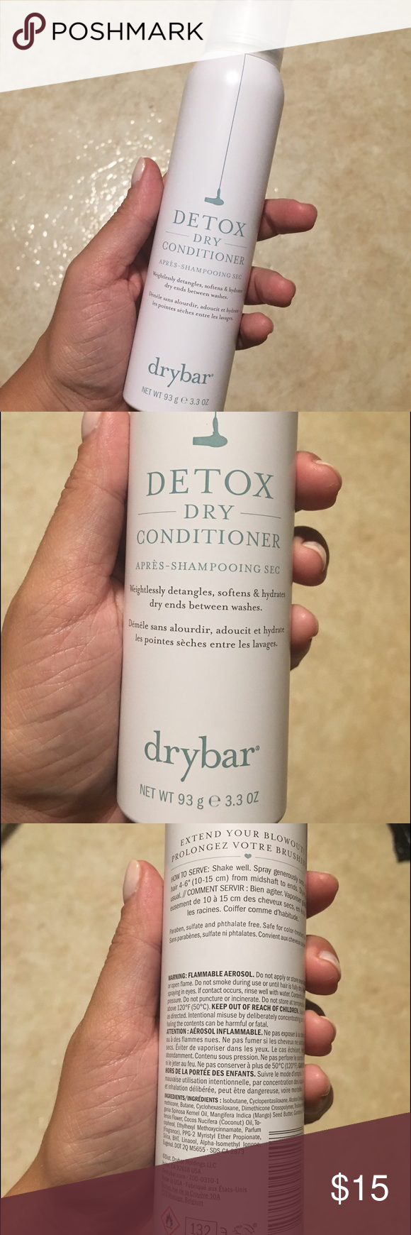 Drybar Detox Dry Conditioner Brand new, full size! Smells great :) Drybar Makeup Brushes & Tools