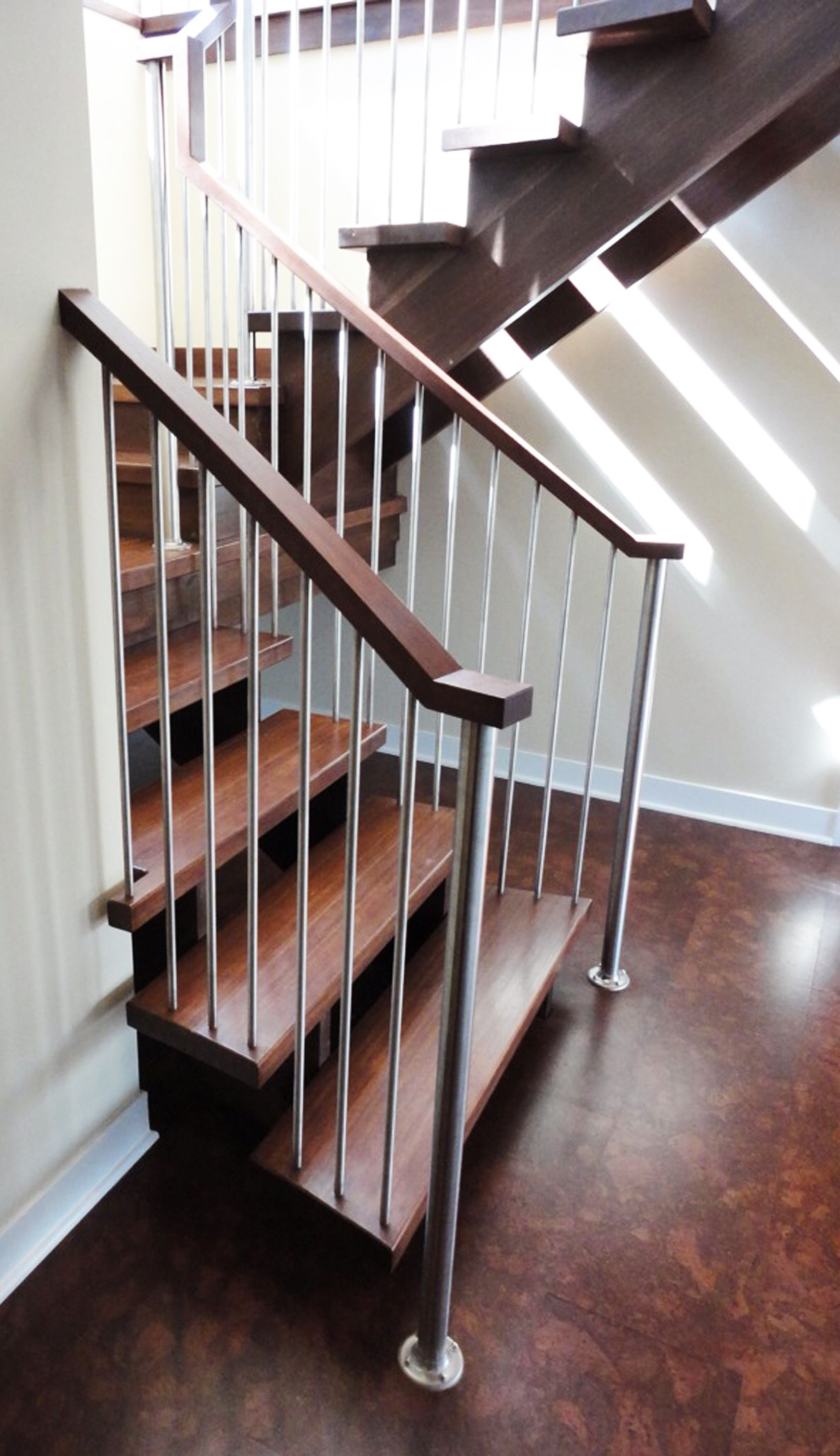 Best A Crisp Looking Steel And Wood Staircase Designed And 400 x 300